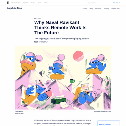 Why Naval Ravikant Thinks Remote Work Is The Future
