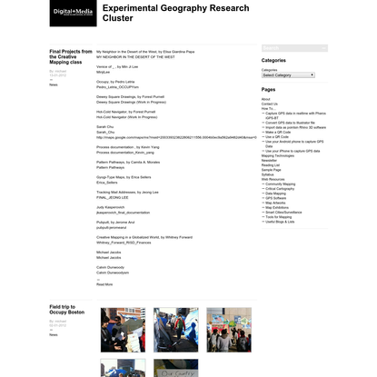 Experimental Geography Research Cluster