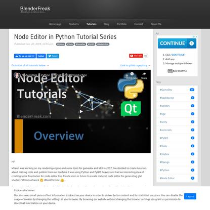 Node Editor in Python Tutorial Series