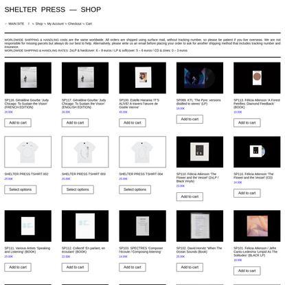 SHELTER PRESS - SHOP