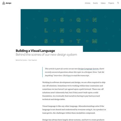 Building a Visual Language