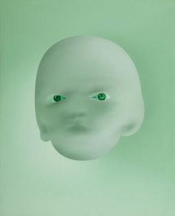 Ohne Titel (Lambert Maria Wintersburg, oil on canvas, 1975)