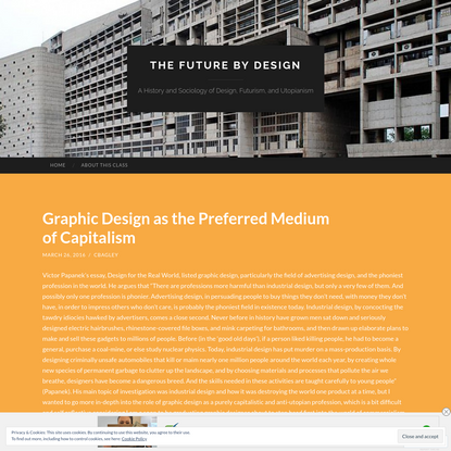 Graphic Design as the Preferred Medium of Capitalism