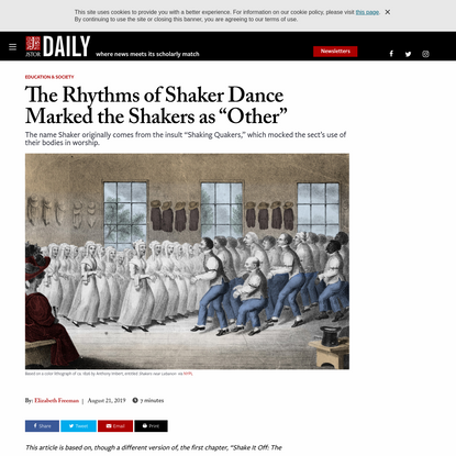 """The Rhythms of Shaker Dance Marked the Shakers as """"Other""""   JSTOR Daily"""