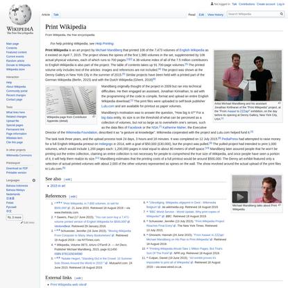 Print Wikipedia