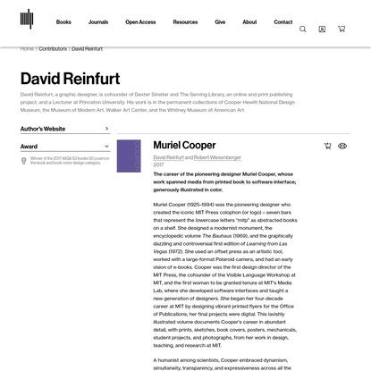 David Reinfurt