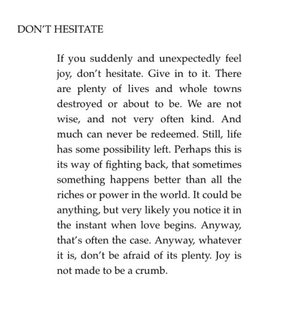 Don't Hesitate - Mary Oliver