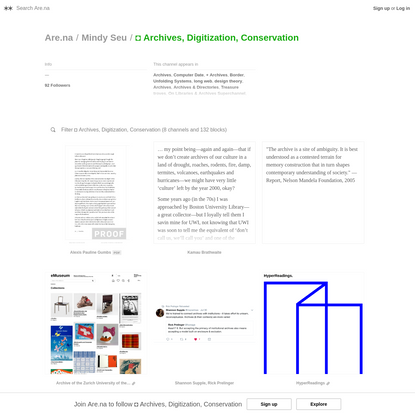 Are.na / ◘ Archives, Digitization, Conservation