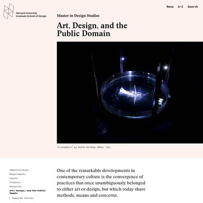 Art, Design, and the Public Domain - Harvard Graduate School of Design