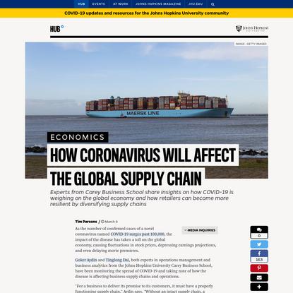 How coronavirus will affect the global supply chain