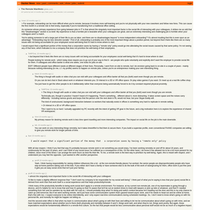 The Remote Manifesto | Hacker News