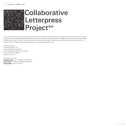 6x6 Letterpress