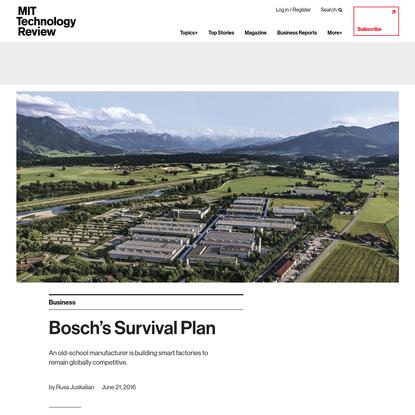 Bosch's Survival Plan