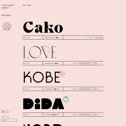 Typefaces - VJ-TYPE