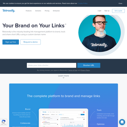 Rebrandly | Custom URL Shortener, Branded Link Management, API