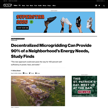 Decentralized Microgridding Can Provide 90% of a Neighborhood's Energy Needs, Study Finds