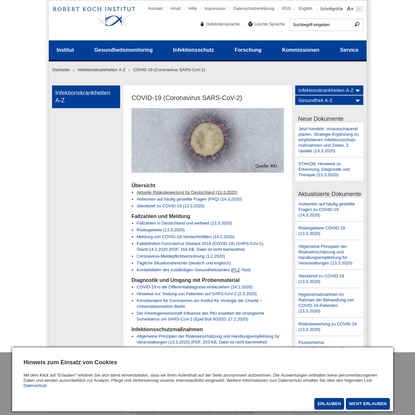 COVID-19 (Coronavirus SARS-CoV-2)