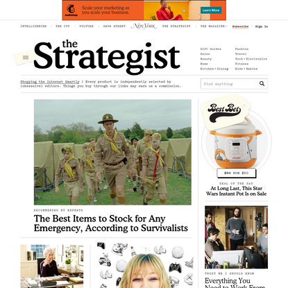 The Strategist - Find new products, gift ideas and the best deals