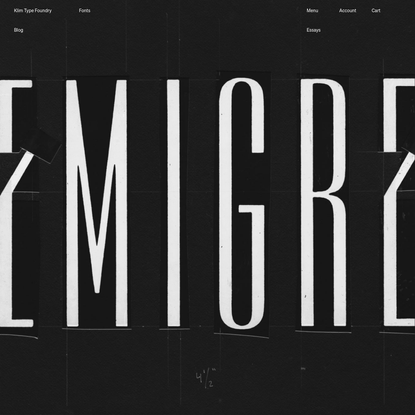 Welcome to the Infill Font Foundry · Klim Type Foundry