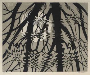 M.C. Escher, Rippled Surface Colour, 1950