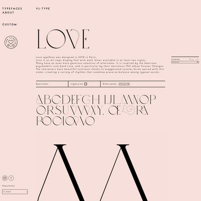 Love - VJ-TYPE