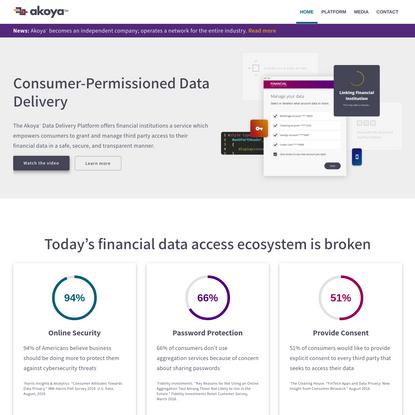 Akoya - Consumer-Permissioned Data Access