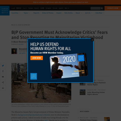 BJP Government Must Acknowledge Critics' Fears and Stop Resorting to Majoritarian Victimhood