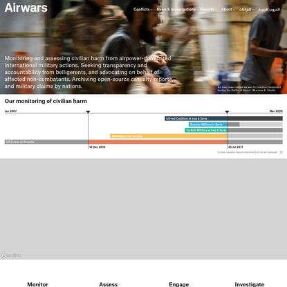 Airwars Homepage (Redesign)