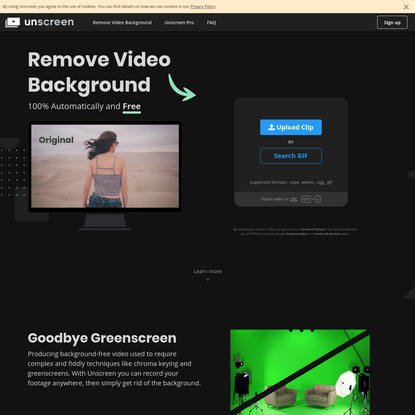 Remove Video Background - Unscreen