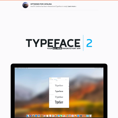 Typeface App - Font Manager for Mac