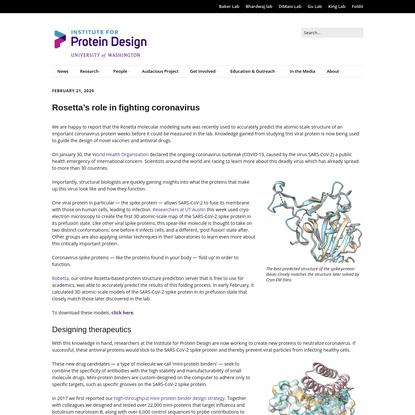 Rosetta's role in fighting coronavirus