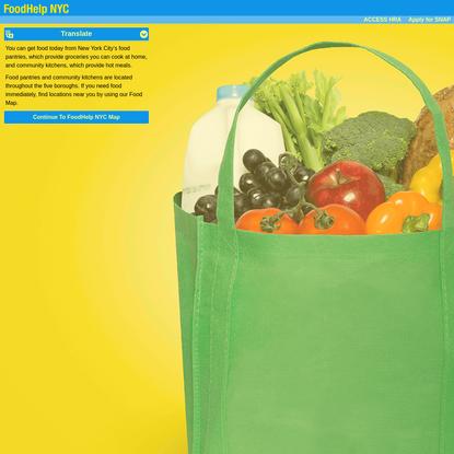 FoodHelp.nyc Food Map