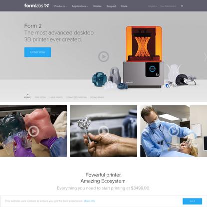Desktop Stereolithography (SLA) 3D Printers - Formlabs