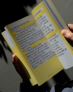 Repost from @bureaunuits Art direction we've done for the last @la_releve_et_la_peste annual book. _ #typeporn #printisnotde...