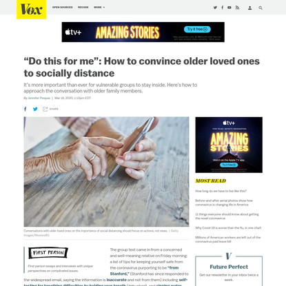 """""""Do this for me"""": How to convince older loved ones to socially distance"""