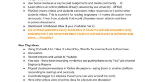 Ideas for teaching clay online