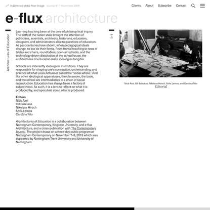 Architectures of Education - e-flux
