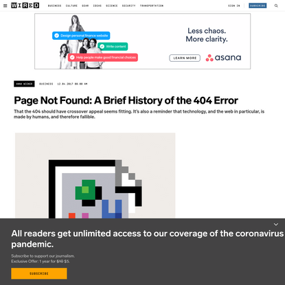 Page Not Found: A Brief History of the 404 Error