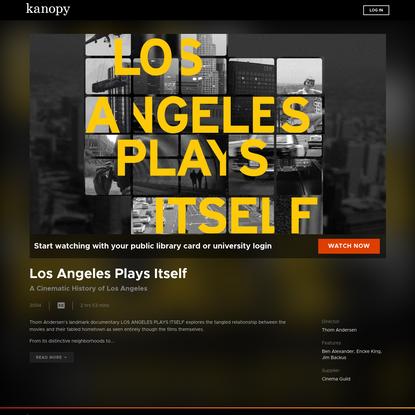 Los Angeles Plays Itself   Kanopy