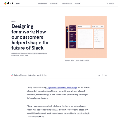 Designing teamwork: How our customers helped shape the future of Slack