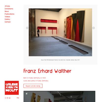 Franz Erhard Walther - Galerie Jocelyn Wolff