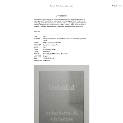 Unfolded book for Scheltens & Abbenes
