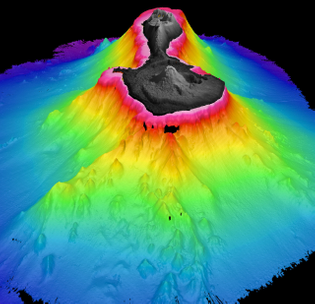 3D visualization of Pagan Island