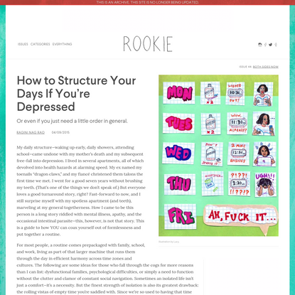 How to Structure Your Days If You're Depressed - Rookie