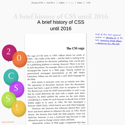 A brief history of CSS until 2016