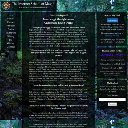 Internet School of Magic - Home