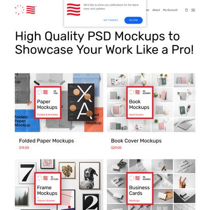 PSD Mockups & Graphic Design Freebies - Mr.Mockup