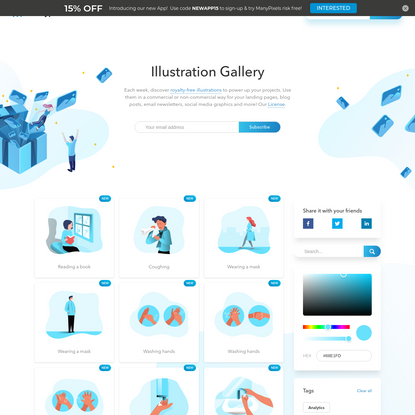 Illustration Gallery by ManyPixels | Open-Source Editable Illustrations