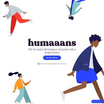 Humaaans: Mix-&-Match illustration library