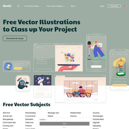 Free vector illustrations - Ouch.pics